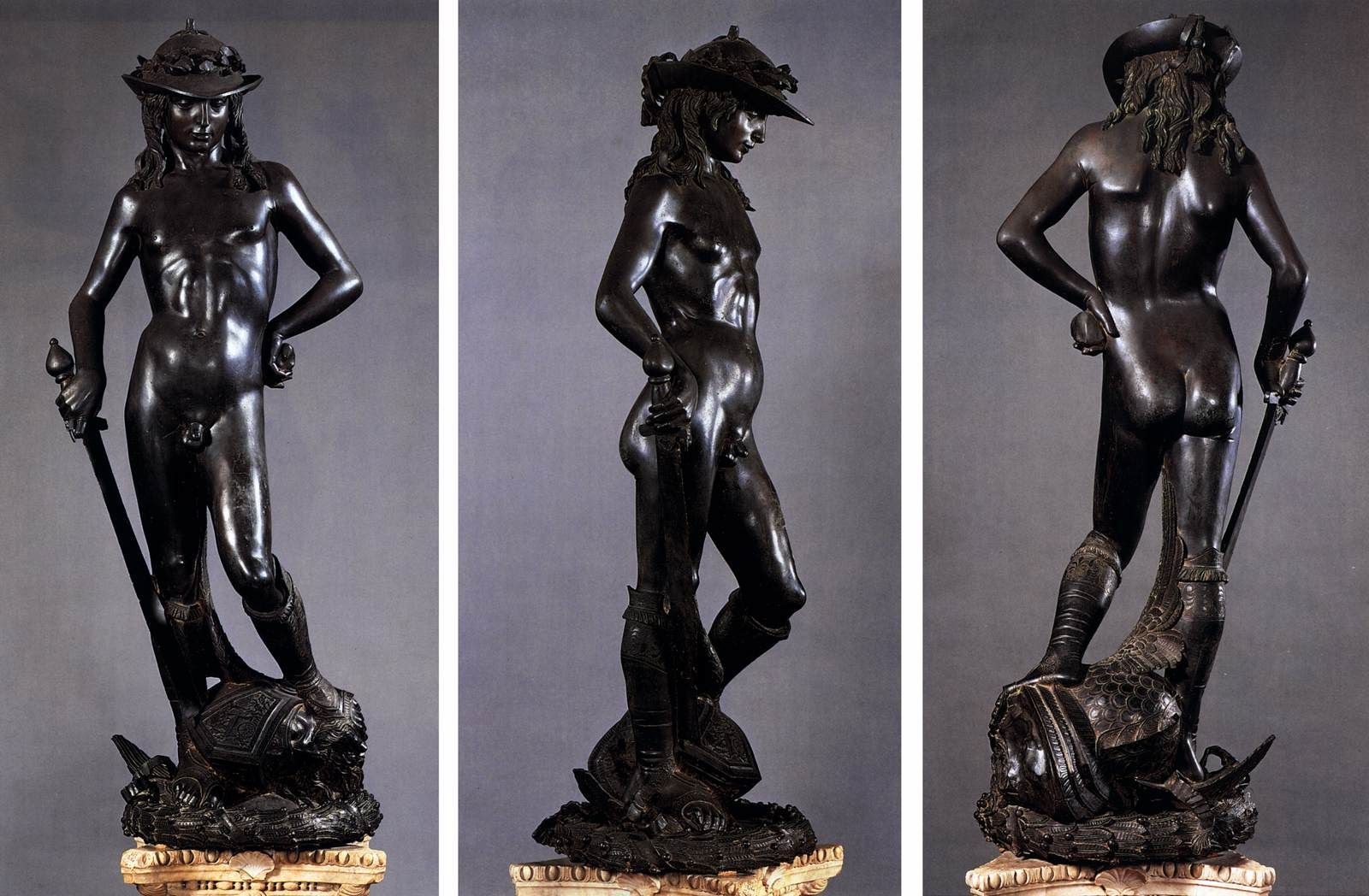 donatello david 1430s bronze  height 158 cm museo