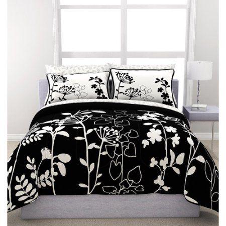 Formula Botanica Reversible Bed In A Bag Black And White Floral