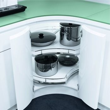 Corner Pull Out Shelving Unit, for Base Cabinets, Pole-Free, Vauth ...