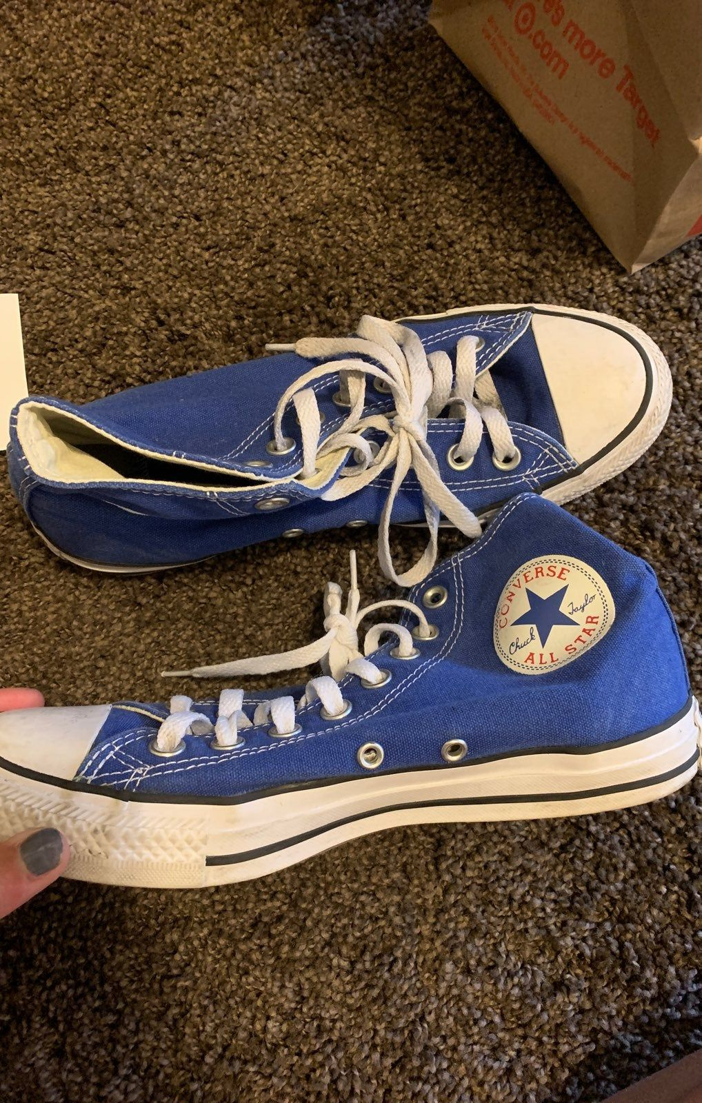 brand new converse, we wore these for