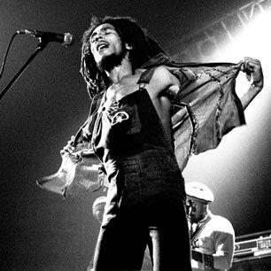 Bob Marley performing in 1976