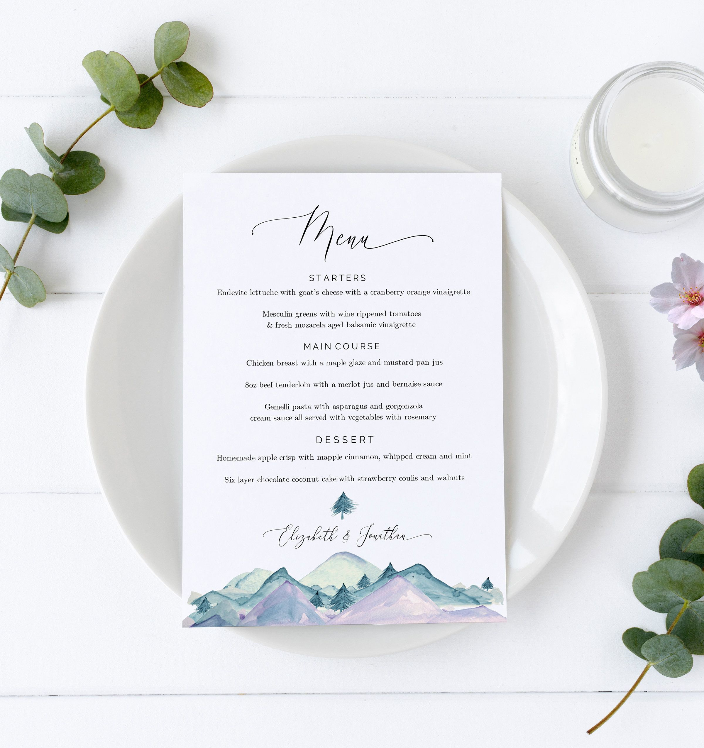 Diy Wedding Menu Template Printable Wedding Menu Cards Menu Card Printable Dinner Menu Download In 2020 Diy Wedding Menu Menu Card Template Printable Menu Template