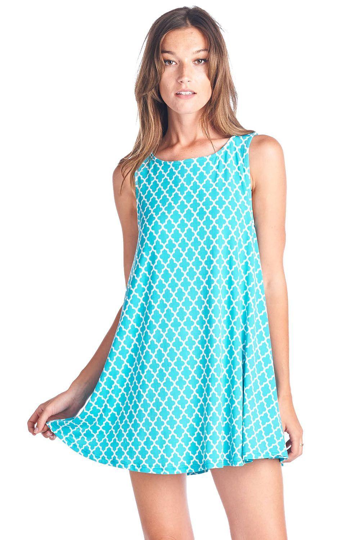 Summer Forever Swing Dress in Jade