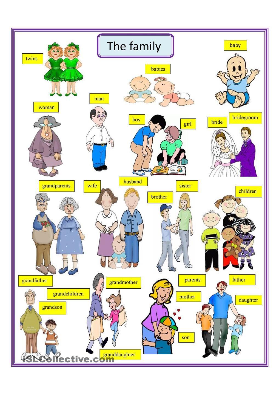 The family | Ingles para criancas, Inglês crianças, Atividades de ...