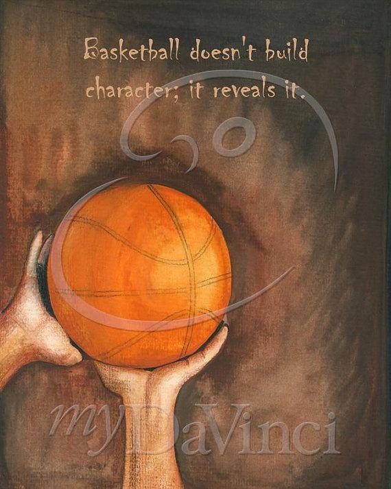 Personalized 8x10 Basketball Quote fine art print. by myDaVinci