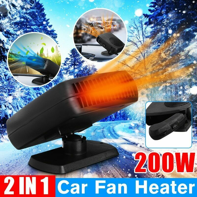 12v Dc Car Auto Portable Electric Heater Heating Cooling Fan