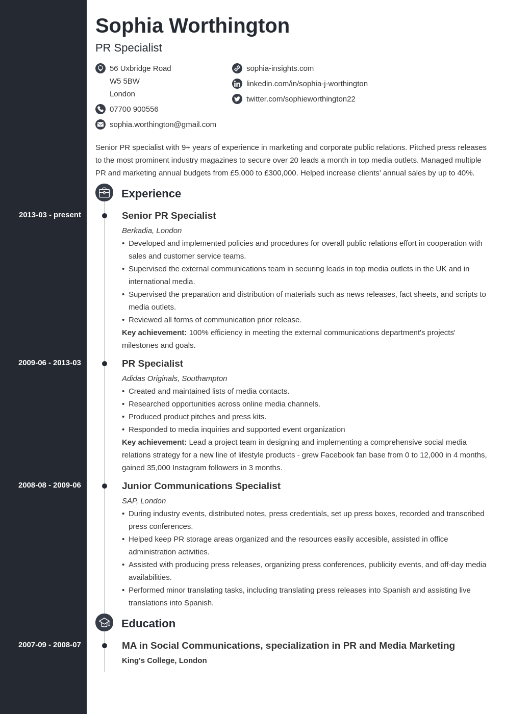 uk skills based cv template concept in 2020 Cv examples