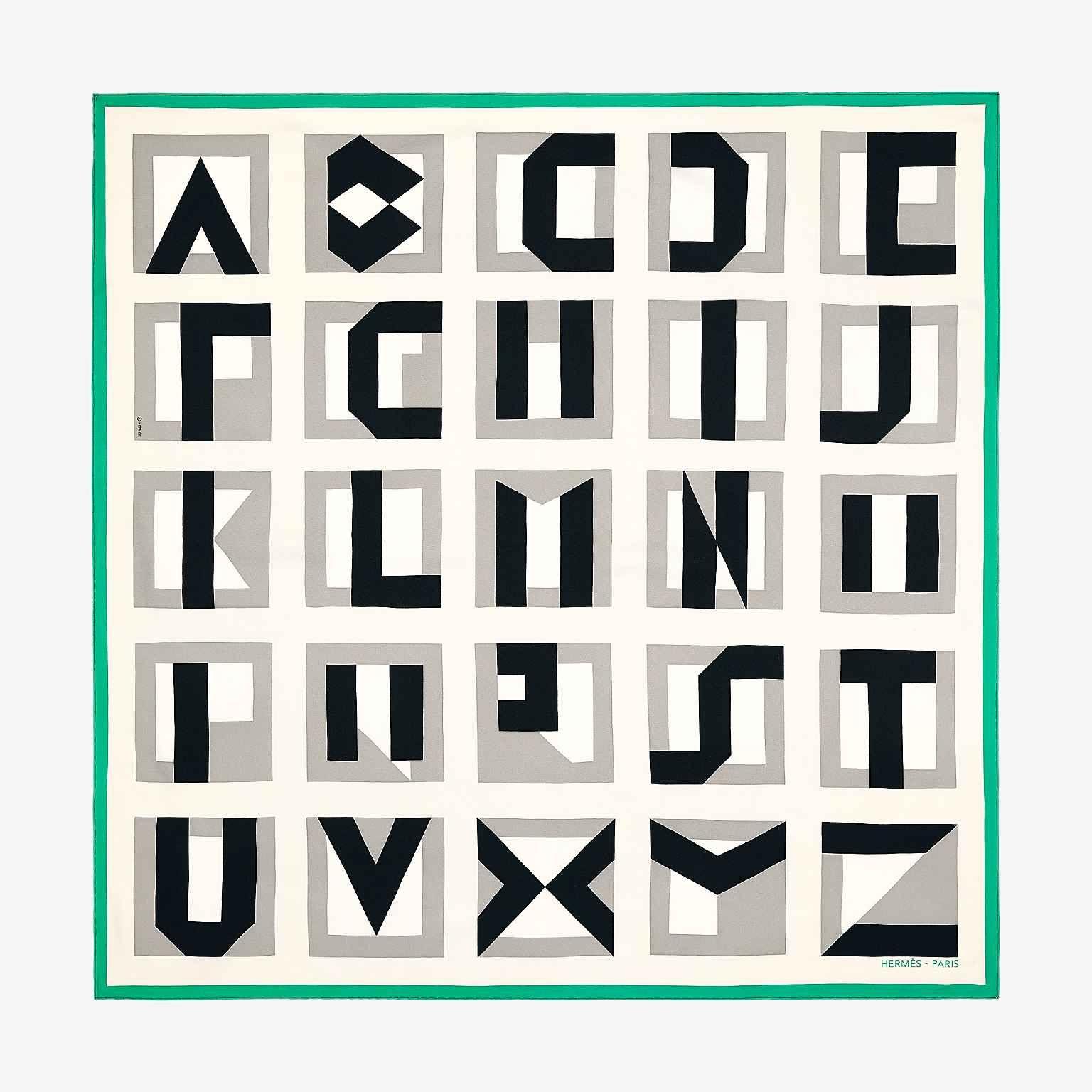694b6ba9dd Carré 90 Lettres au Carré en 2019 | Vert | Hermes, Silk scarves et ...