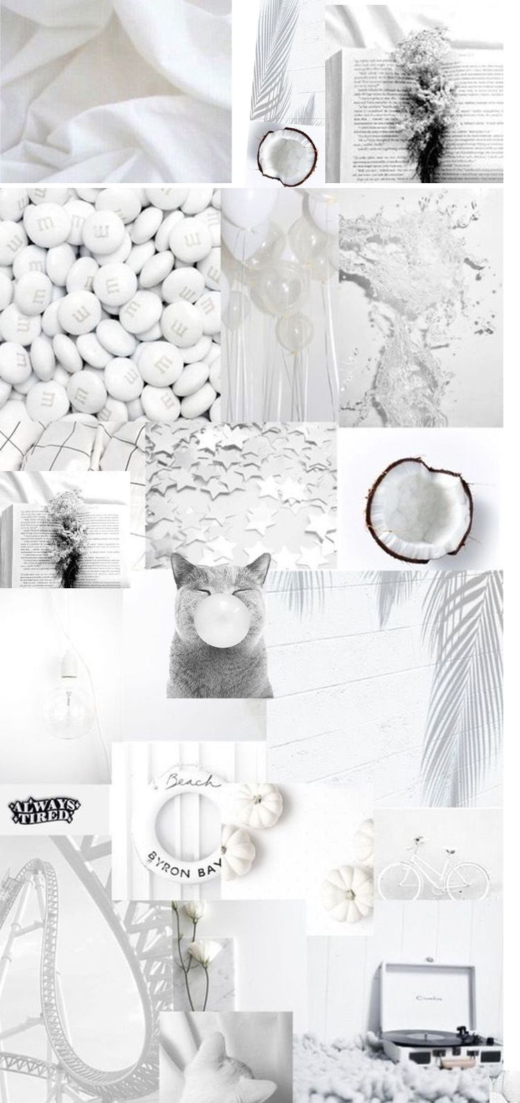 white collage background