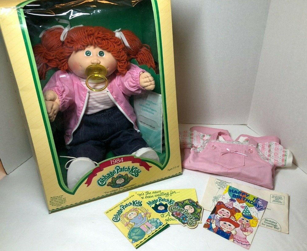 1984 Original Cabbage Patch Doll W Box Birth Cert Papers Extra Outfit Nm In 2020 Cabbage Patch Dolls Original Cabbage Patch Dolls Cabbage Patch Kids Dolls