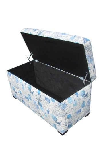 Angela Prime Arctic Blue Storage Trunk By Chic Storage Ottomans And Benches  On @HauteLook $139