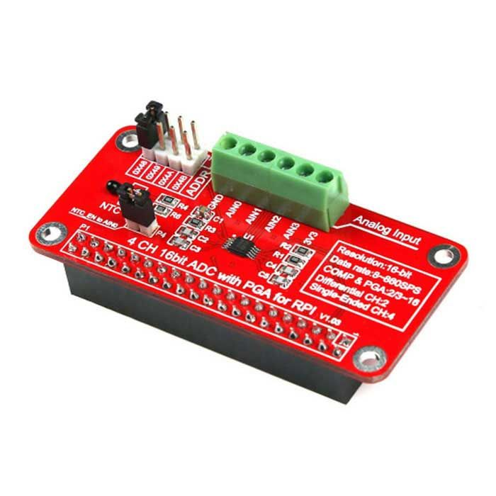 16 Bits ADS1115 ADC Module for Raspberry Pi 3B / 2B / B+ / Zero - Red. Find the cool gadgets at a incredibly lo