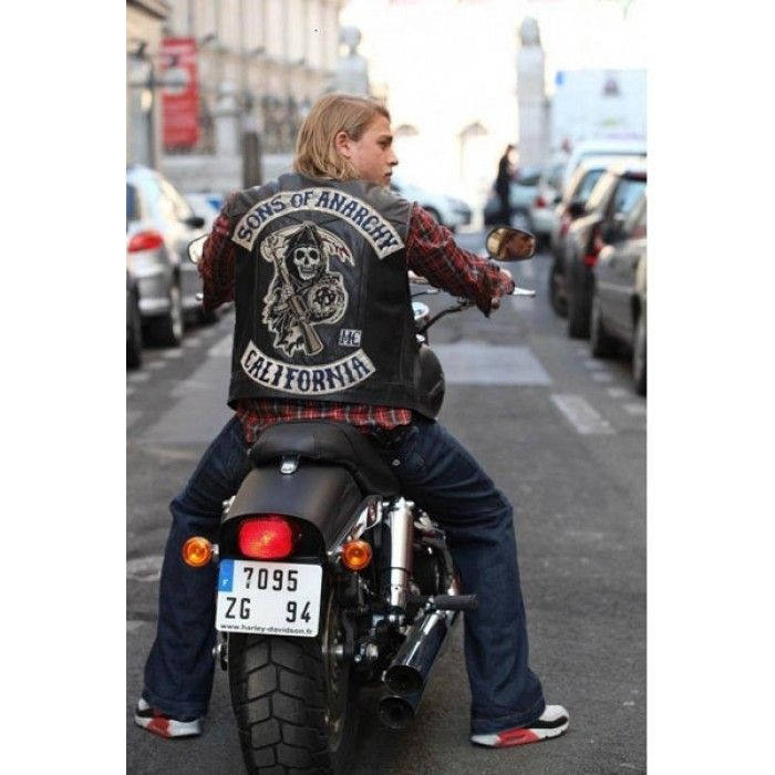 Jax Sons Teller Of Anarchy Motorcycle Leather Vest All Patches Movies Leather Jackets Sons Of Anarchy Anarchy Charlie Hunnam