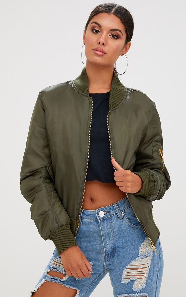 Alexus Khaki Bomber Jacket Bomber Jacket Women Olive Green Bomber Jacket Bomber Jacket [ 1180 x 740 Pixel ]