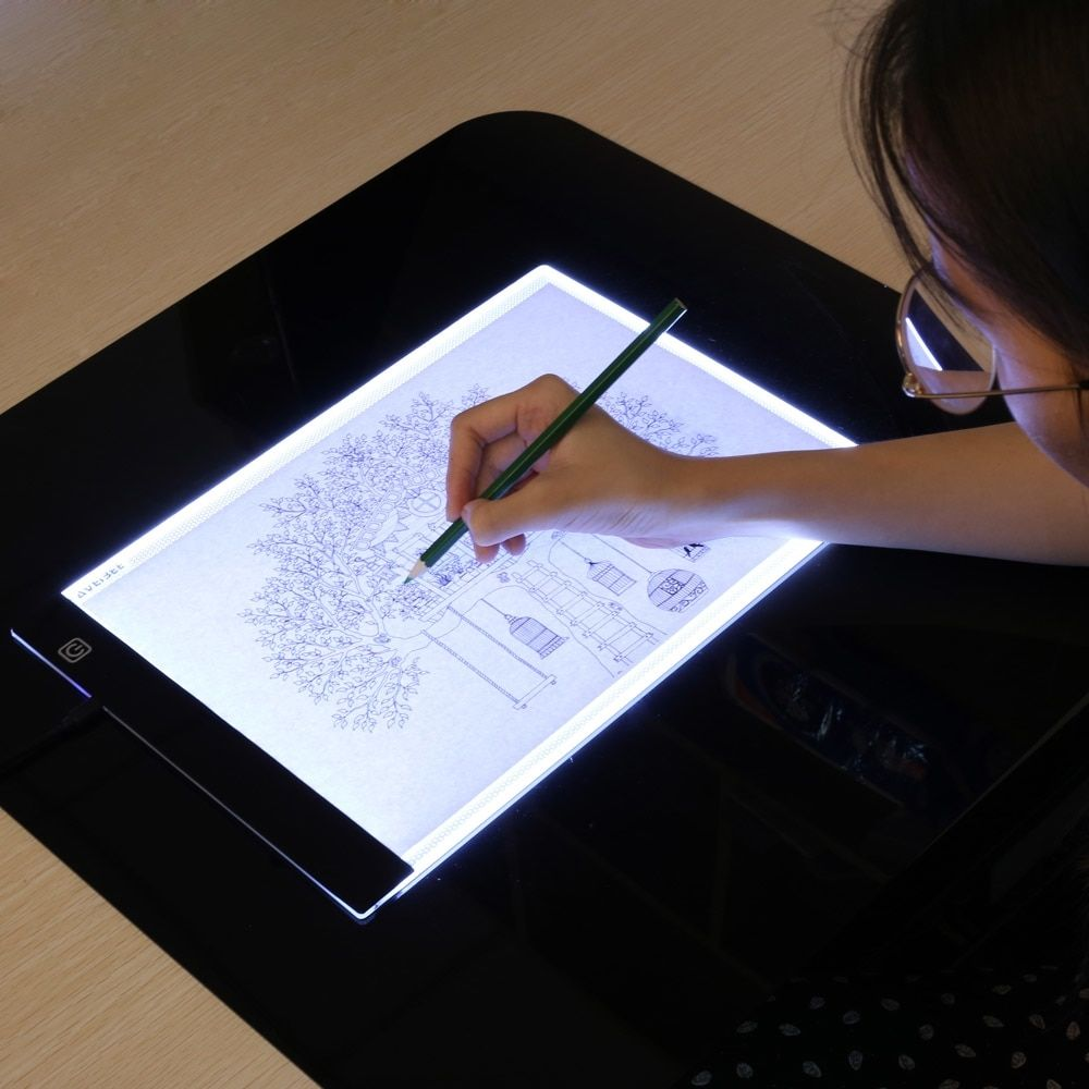 Led Electronic Whiteboard A4 Light Pad Drawing Tablet Tracing Pad