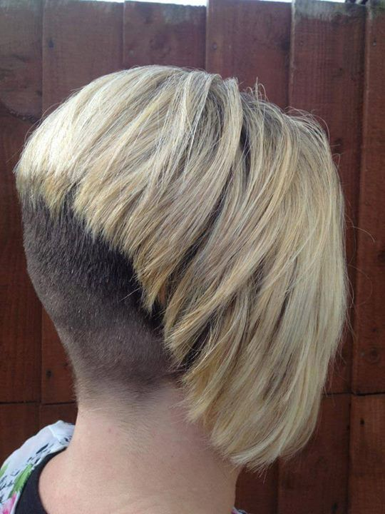 high inverted bob's shaved