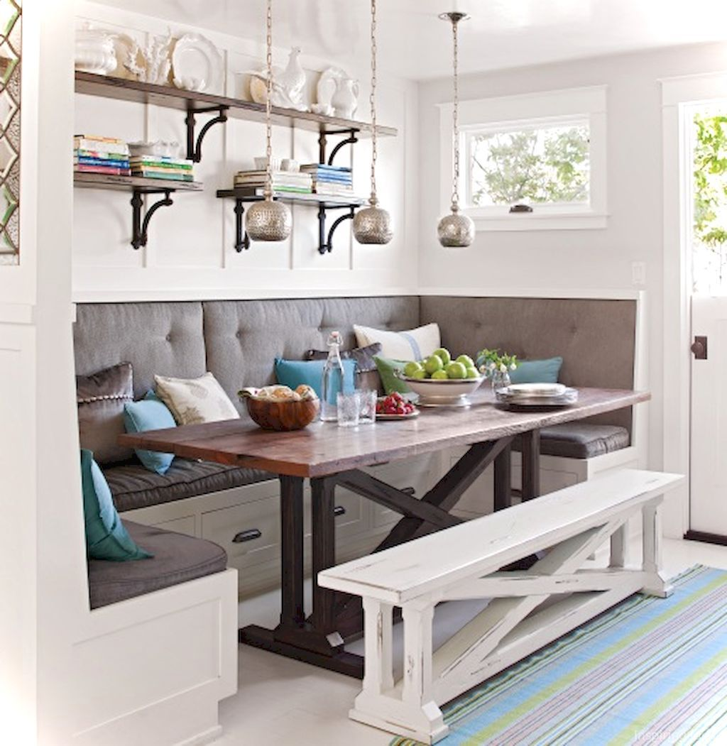 35 Nice Banquette Sitting Ideas For Kitchen Dining Room