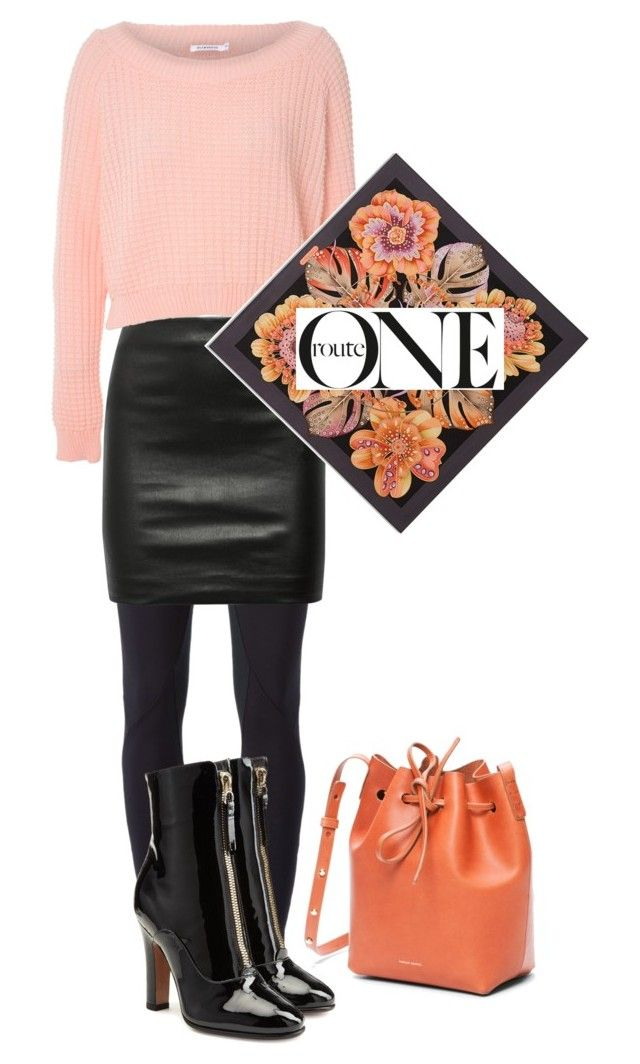 """""""Route"""" by cartersplace ❤ liked on Polyvore featuring NIKE, The Row, Valentino, Glamorous, Salvatore Ferragamo, Fall, Sweater and scarf"""