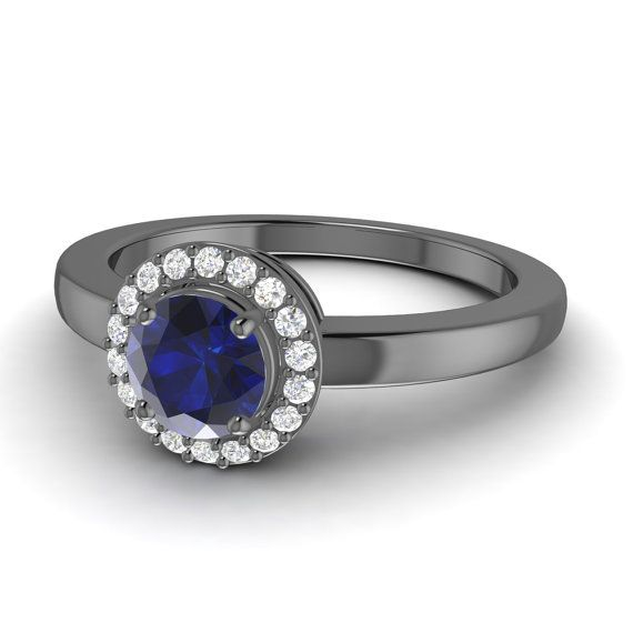 Stunning Sapphire Ring  Sapphire and Diamond Ring  by Diamondere, $968.00