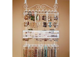 I have this and it is the BEST jewelry organizer!  Hangs on the wall or the back of a door!