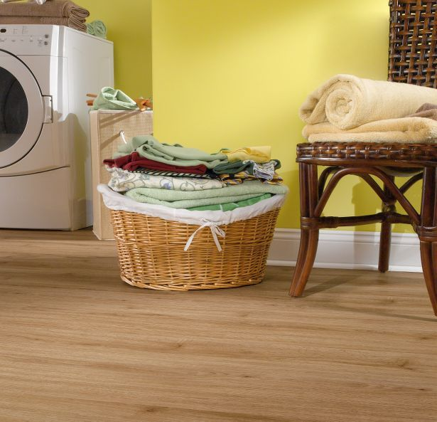 Armstrong Luxury vinyl floating faux wood plank floor ...