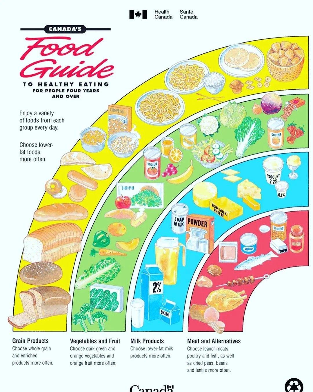 Canada Food Guide Canada food guide, Canada food, Four