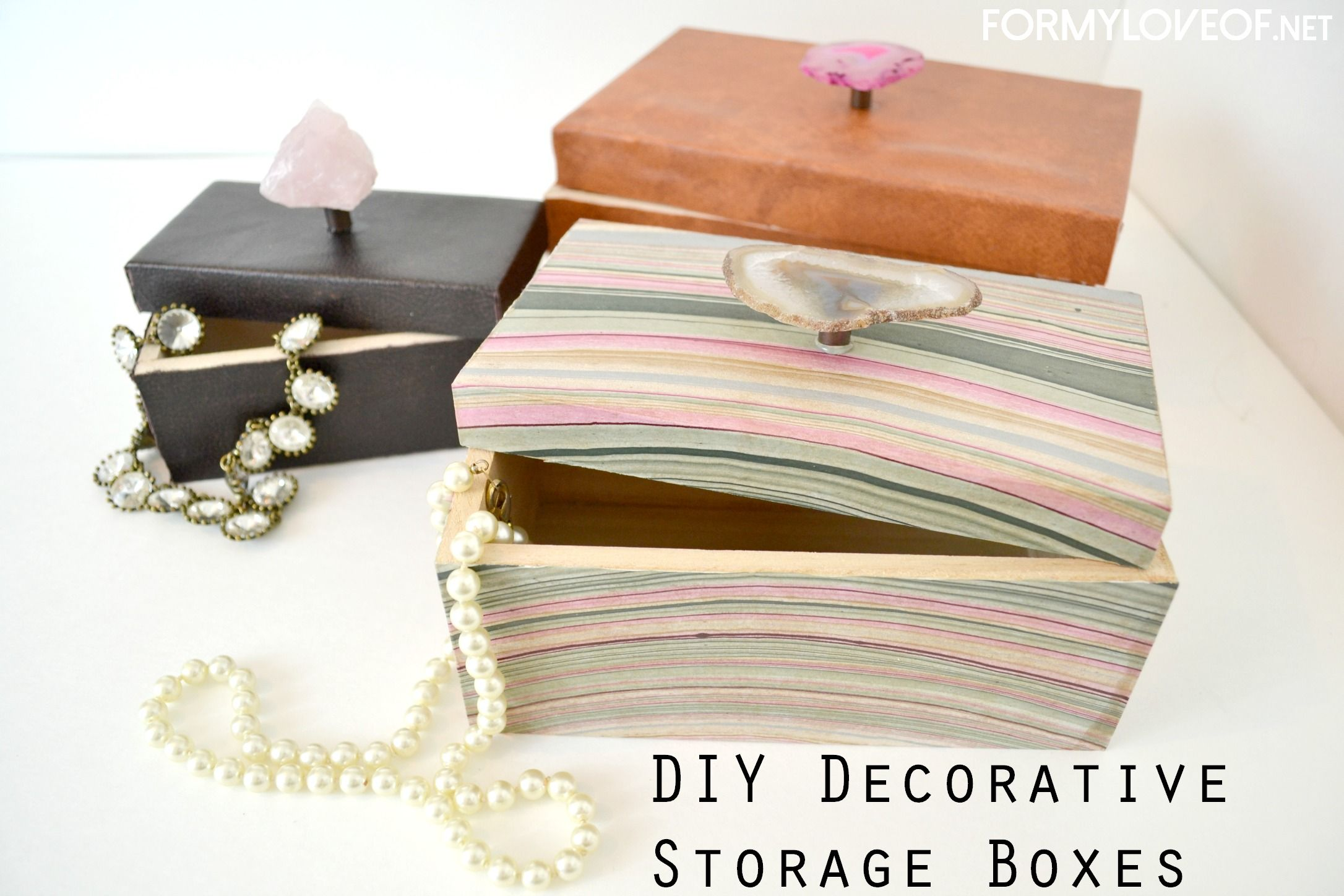 Jewelry gift boxes Wired Pinterest Diy storage boxes Storage