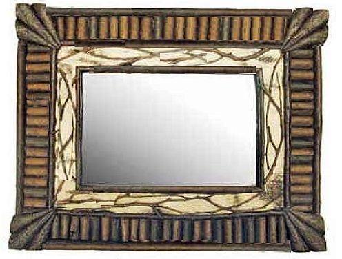 Birch Bark Frames & Mirrors - Twig, barnboard and rustic frames ...