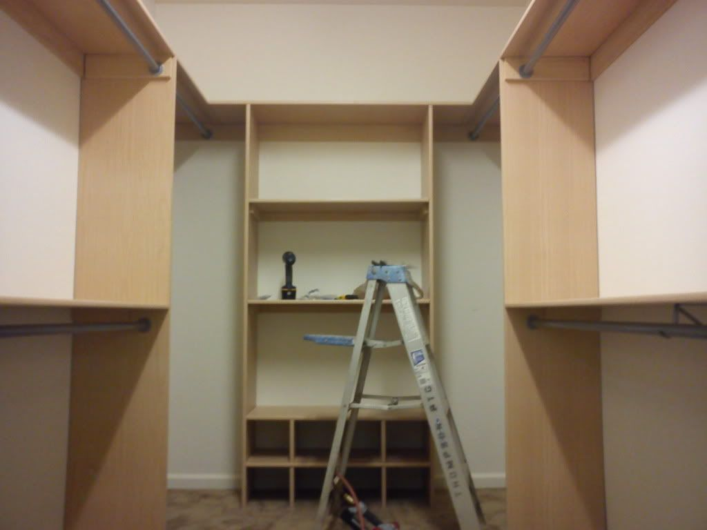 The New House Originally Had Modular Shelving Closets That The Initial  Owners Took With Them When They Moved. So When We Moved In, All The Closets.