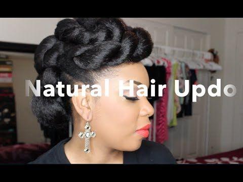 Natural Hair Updo With Braiding Hair Tutorial Black Hair Information Community Natural Hair Updo Natural Hair Styles Braided Hairstyles Tutorials