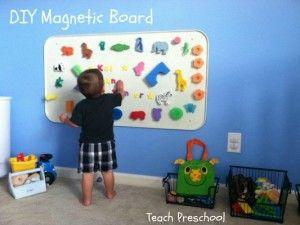 diy magnetic board sensory