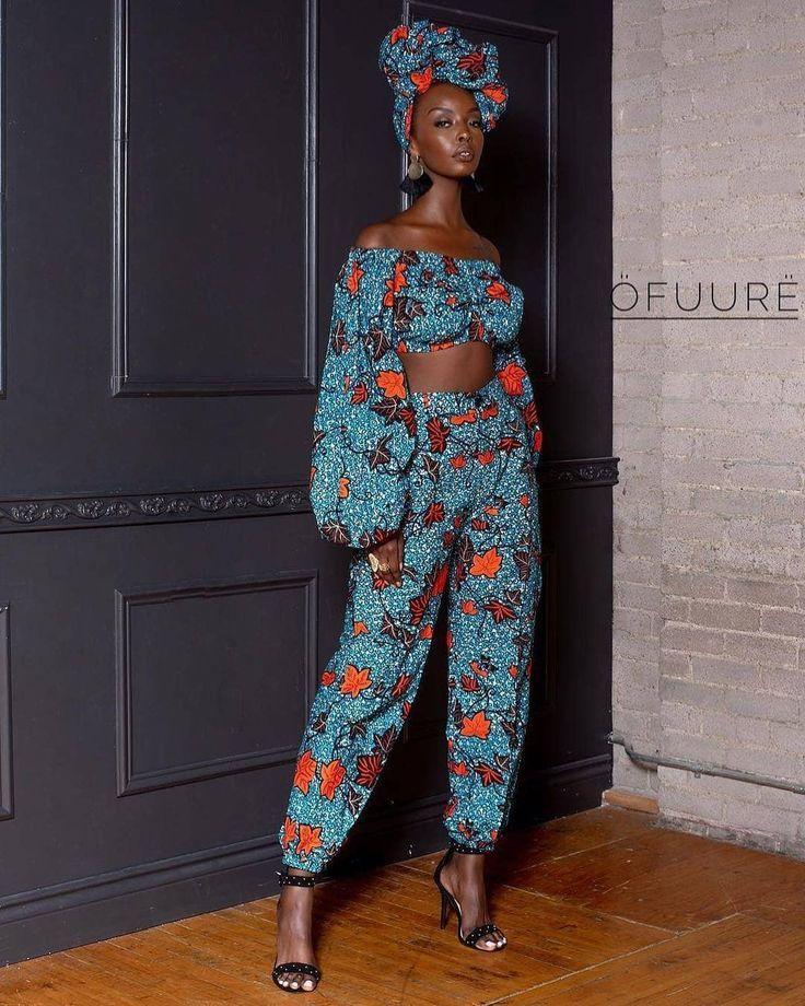 Zweiteilige Ankara Fashion Styles für den Frühling #afrikanischerdruck
