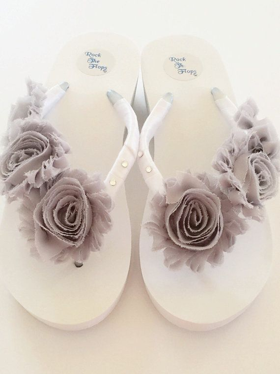 White Wedding Flip Flops Wedges Sandals For Bride Bridal Flip Wedding Flip Flops Bridal Flip Flops Diy Flip Flops