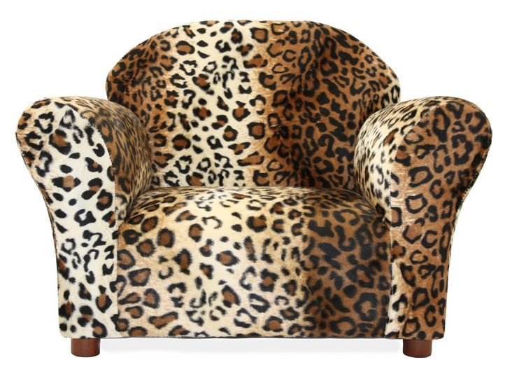 kids chair and ottoman set leopard print girls toddlers furniture