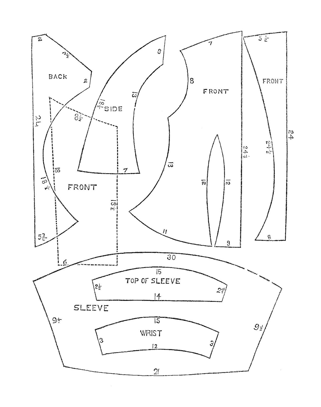Antique Images: Free Antique Sewing Graphic: Victorian Era Men's and Women's Clothes Sewing Patterns