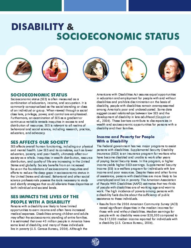 Disability Socioeconomic Status American Psychological Association American Psychological Association Preventive Care Human Development