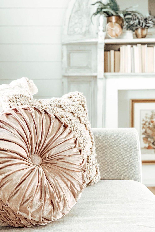 Better Homes Gardens Velvet Round Decorative Pillow 15 5 B