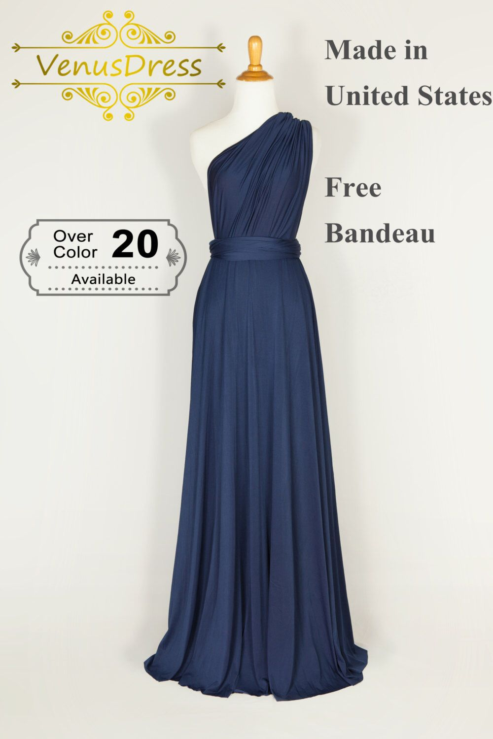 Navy dress bridesmaid dress infinity dressconvertible dress navy dress bridesmaid dress infinity dressconvertible dressparty dress multi ombrellifo Images