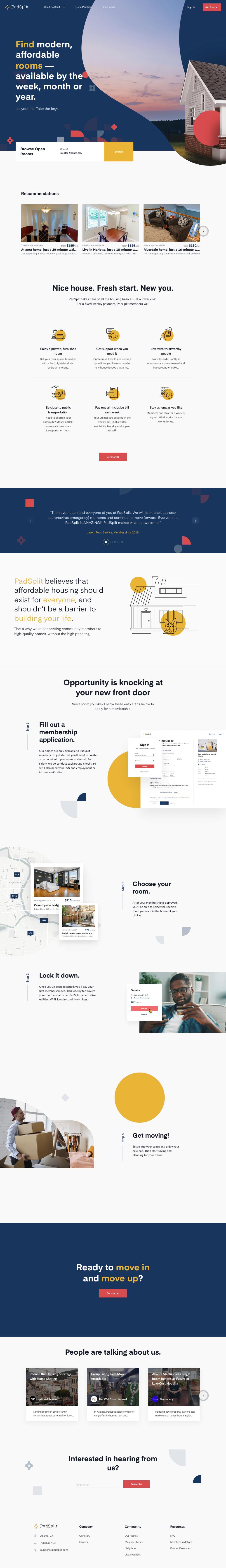 Padsplit Landing Page Design Inspiration Lapa Ninja In 2020 Landing Page Design Page Design Landing Page