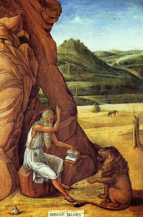 Bellini: St. Jerome in the Desert (1455)   Giovanni bellini, Bellini,  Historical art memes