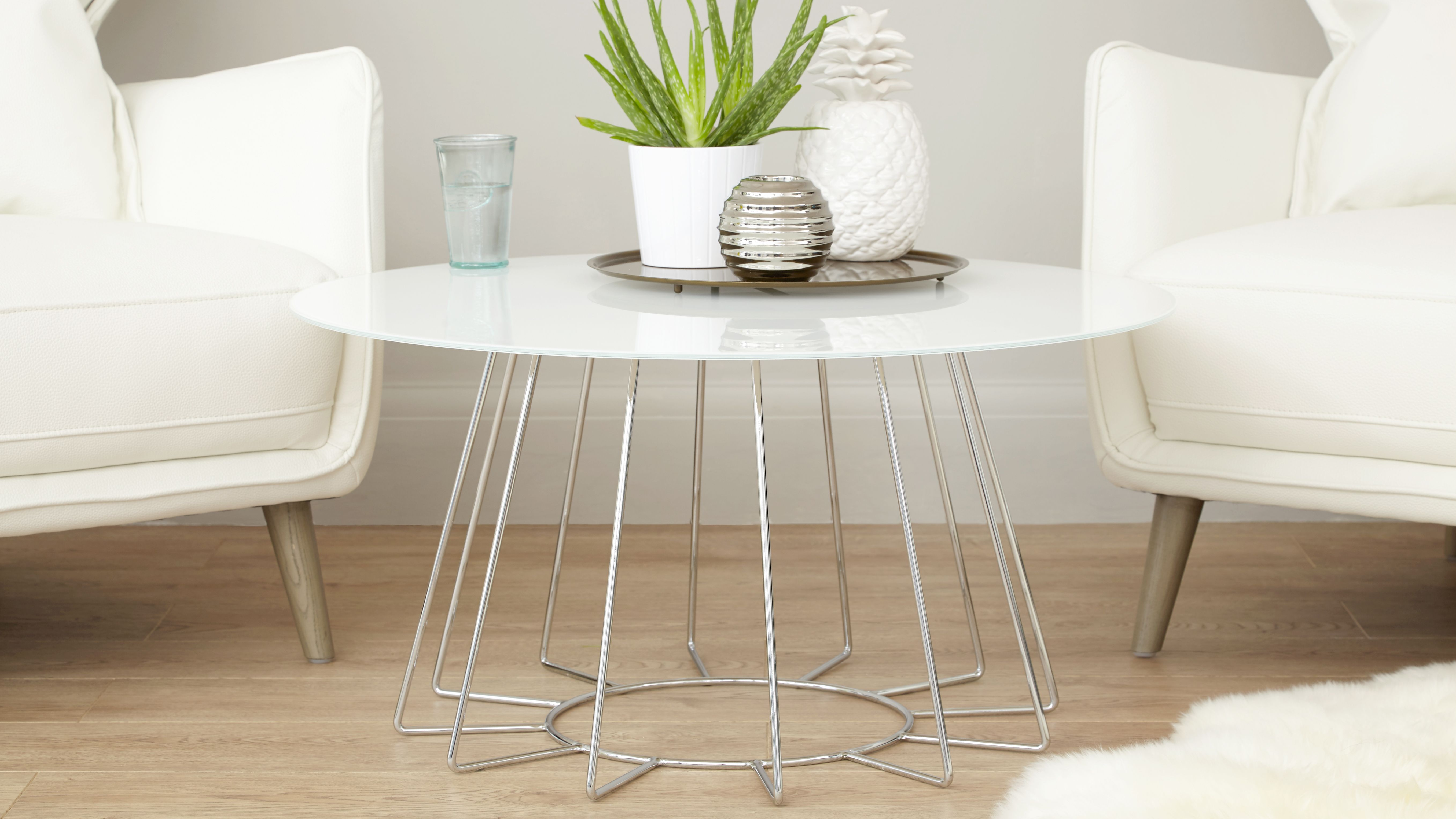 Orbit White Glass And Chrome Coffee Table White Glass Coffee Table Glass Coffee Table Coffee Table [ 3053 x 5428 Pixel ]