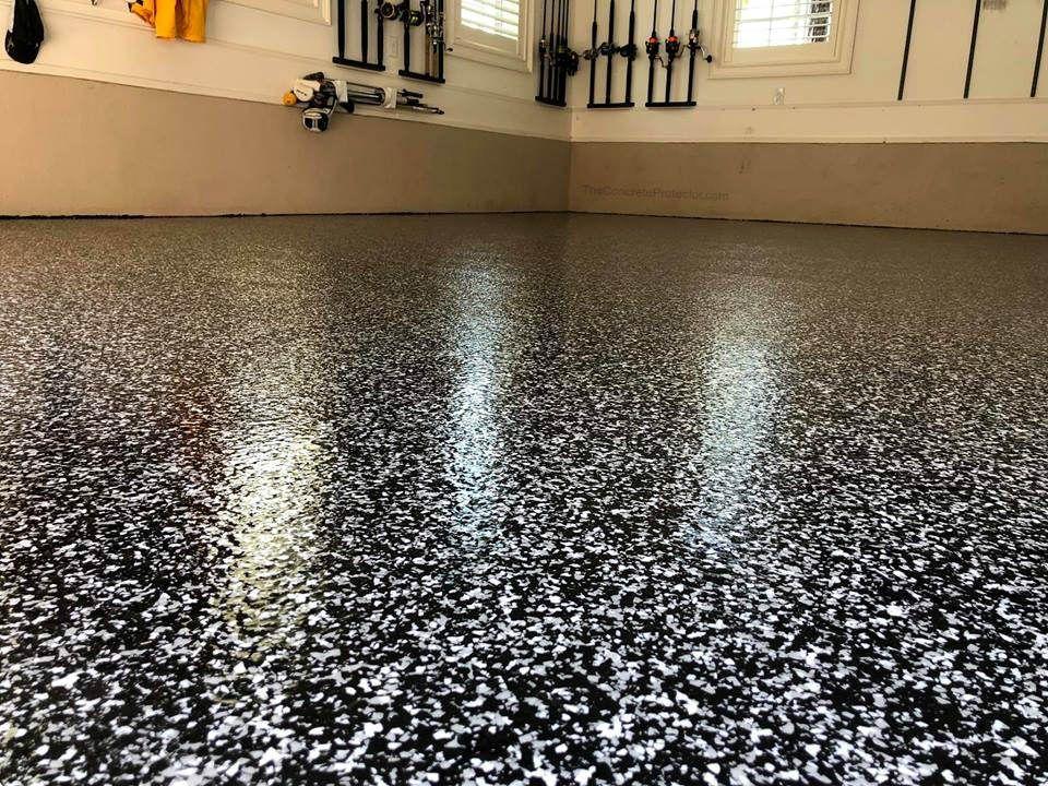 Epoxy Flake Garage Floor Cape Fear Concrete Coatings