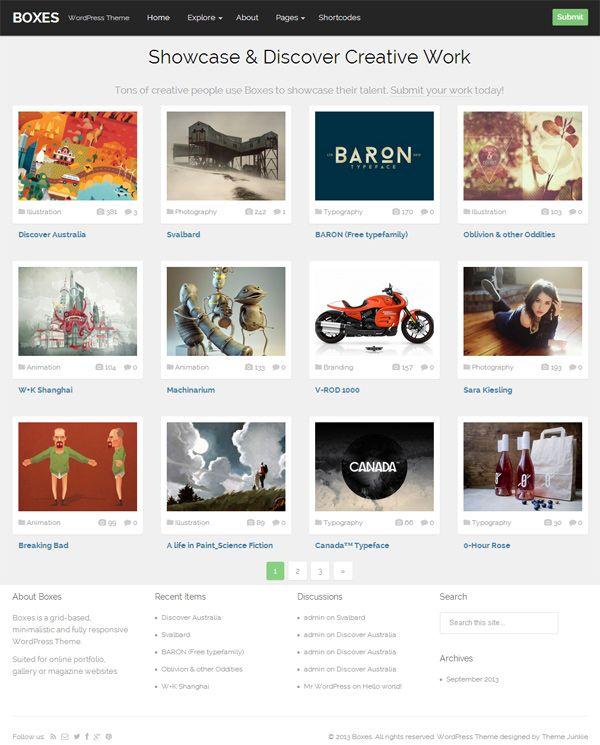 Boxes WordPress Theme Review - Grid Based WP Portfolio Theme