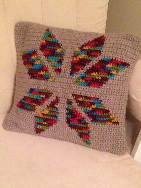 Snowflake Cushion - Crochet
