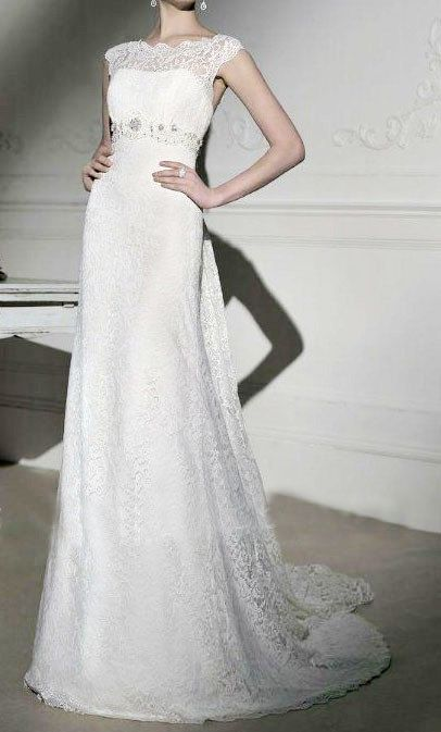 Ivory Lace Wedding Dress Bridal On Etsy 470 00 Inexpensive