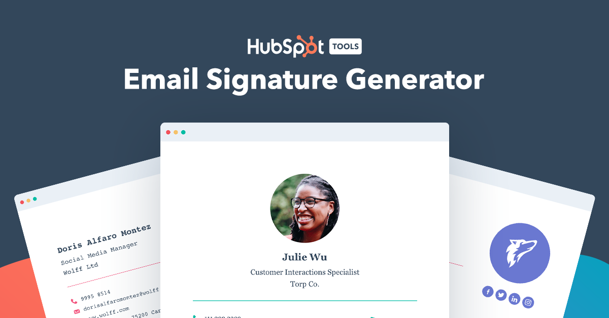 Create a free email signature template with our easyto