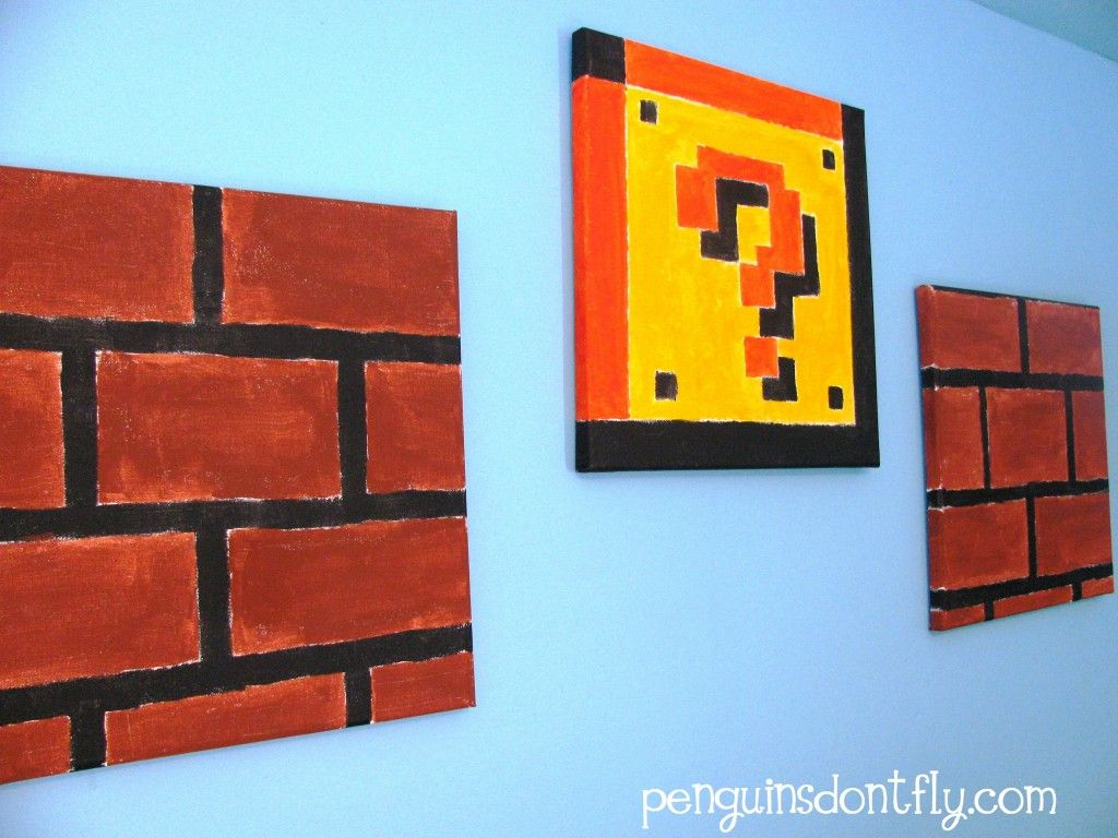 Super mario wall painting — 2