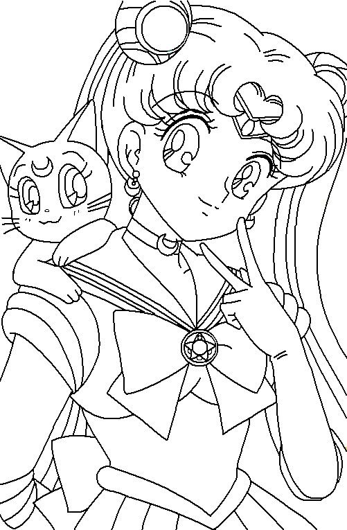Free sailor moon coloring pages for kids | Sailor Moon birthday ...