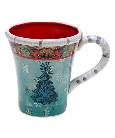 Look what I found on #zulily! Folklore Holiday Earthenware Mug - Set of Four #zulilyfinds