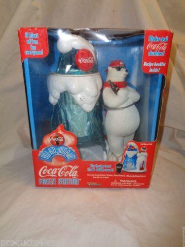COCA-COLA-White-Polar-Bear-Freeze-Station-Slushie-Crushed-Ice-Maker